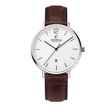 Obaku Men's Toft Leather Strap Watch