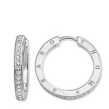 321389 - Thomas Sabo Glam & Soul Together Forever Hoop Earrings Sterling Silver
