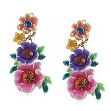 331289 - Butler & Wilson Flower Drop Earrings