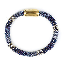 305490 - Azuni London 24ct Gold Plated Hand Beaded Magnetic Clasp Bracelet