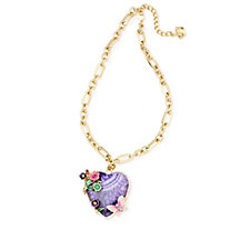 Butler & Wilson Flowers & Butterfly 43cm Necklace with 6cm Extender