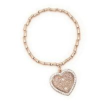 312790 - Frank Usher Crystal Heart Stretch Bracelet