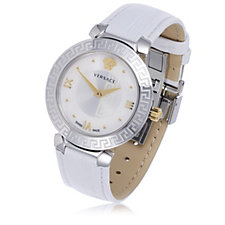 Versace Daphnis Butterfly Buckle Leather Strap Watch