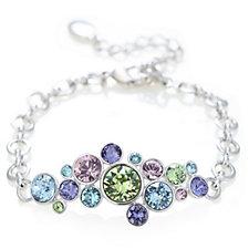 Aurora Swarovski Crystal Effervescent Multicoloured Bubble Bracelet