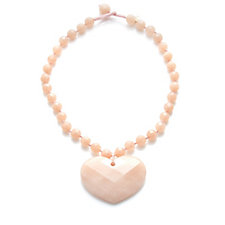 Lola Rose Faceted Heart Semi Precious 40cm Necklace