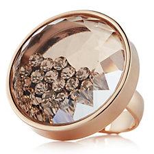 Frank Usher Floating Crystal Adjustable Ring