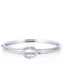 Michelle Mone for Diamonique 4.8ct tw Infinity Statement Bangle Sterling Silver