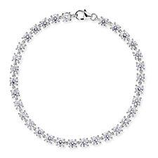 Diamonique 10.20ct tw Tennis 19cm Bracelet Sterling Silver