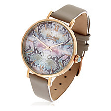 Lola Rose Statement Print Watch with Leather Strap