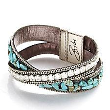 Bibi Bijoux Multi Chip & Crystal Wrap Bracelet
