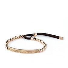 Frank Usher Crystal Bar Suede Bracelet