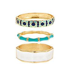 Fornash Enamel Set of Three Bracelets