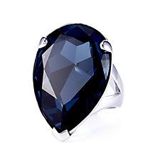 Aurora Swarovski Crystal Tear Statement Ring