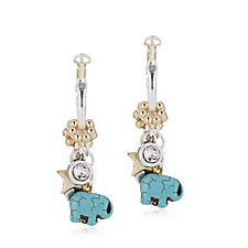 Bibi Bijoux Detachable Multi Charm & Crystal Drop Earrings