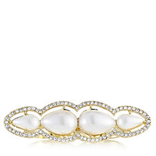 Roberto by RFM Double Finger Simulated Pearl Ring