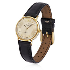 14ct Gold Watch with Leather Strap