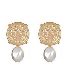 Fornash Calypso Coin Pearl Bead Earrings