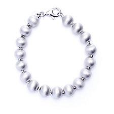 Bianca Platinum Plated Bead Bracelet Sterling Silver