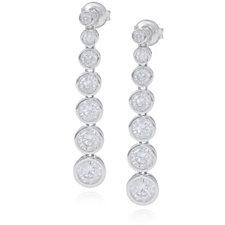 Michelle Mone for Diamonique 4.12ct tw Bezel Set Earrings Sterling Silver
