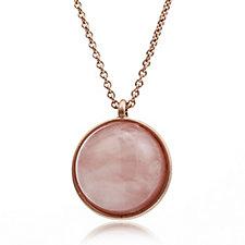 Pilgrim Circle Pendant 80cm Necklace
