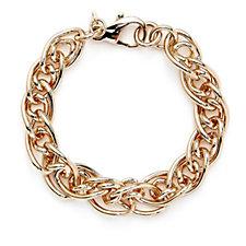 Bronzo Italia Double Curb Chain Link 19cm Bracelet