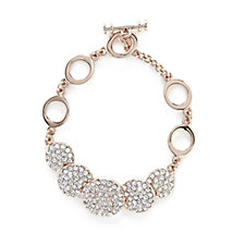 Loverocks Pave Crystal Disc Bracelet