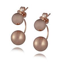 Bronzo Italia Double Bead Drop Earrings