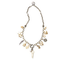 Bibi Bijoux Multi Charm 47cm Chain Necklace