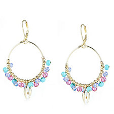 Lonna & Lilly Tropical Bead Hoop Earrings