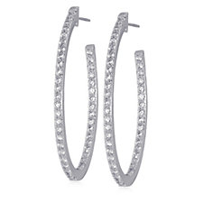 K by Kelly Hoppen Miami Collection Cubic Zirconia Hoop Earrings Plated Bronze