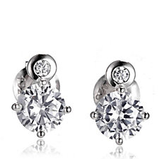 Diamonique 1.8ct tw Double Stud Earrings Sterling Silver