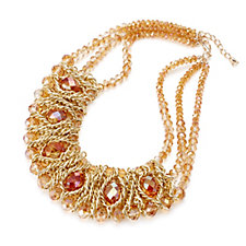 Frank Usher Woven Crystal Necklace with Extender