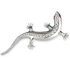 Butler & Wilson Crystal Lizard Brooch
