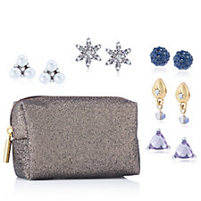 Lonna & Lilly Ear-mergency Earring Kit with Pouch & 5 Pairs of Stud Earrings