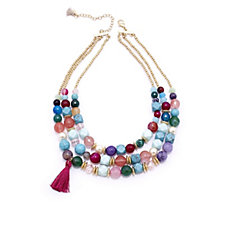 Lonna & Lilly Tropical Layered Bead 41cm Necklace