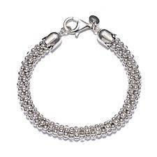 Bianca Platinum Plated Shiny Coreana 19cm Bracelet