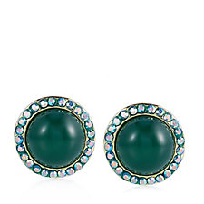 Butler & Wilson Opalized Stones Stud Earrings