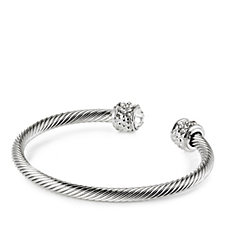 Nour Crystal Torque Bangle