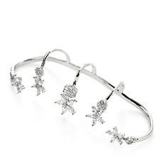 Butler & Wilson 5 Finger Crystal Daisy Ring