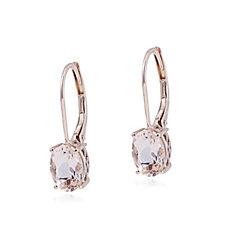 306596 - 1.2ct Morganite Oval Leverback Earrings 9ct Rose Gold