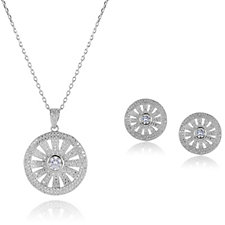 Frank Usher Crystal Earring & 44cm Necklace Set