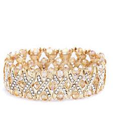 Frank Usher Crystal Kiss Stretch Bracelet