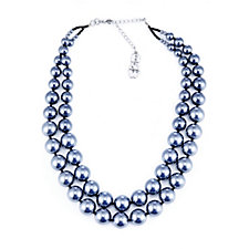 Butler & Wilson Double Strand Glass Pearl 47cm Necklace