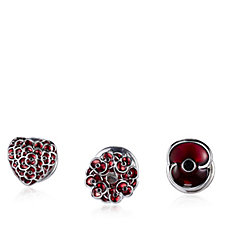 The Poppy Collection Set of 3 Pin Brooches by Buckley London