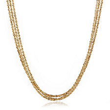 Veronese Triple Strand 45cm Necklace Sterling Silver