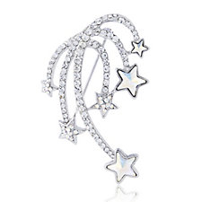 Butler & Wilson Crystal Shooting Stars Brooch