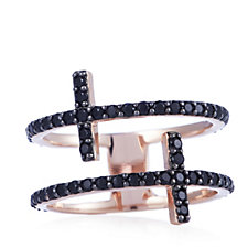 Bronzo Italia Double Cross Ring
