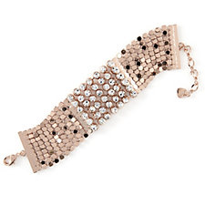 loveRocks Chainmail Crystal Cuff