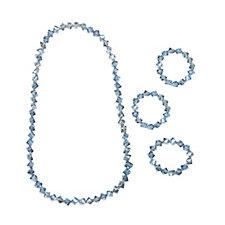 Frank Usher Crystal Necklace & 3 Piece Bracelet Set