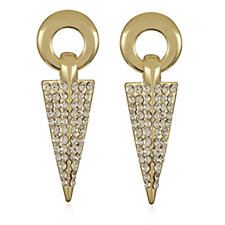 Roberto by RFM Spade Crystal Drop Earrings